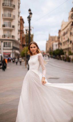 Закрытое платье для венчания