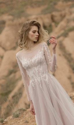 Платье с длинными рукавами свадебное