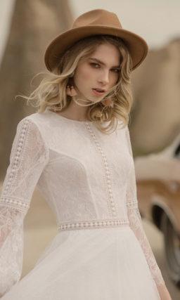 Свадебное платье бохо с рукавами
