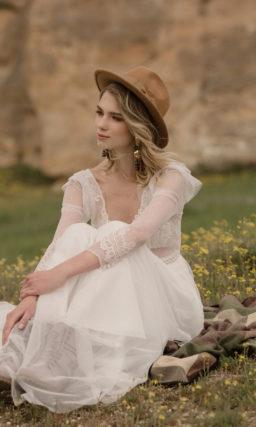 Свадебное платье ретро с рукавами