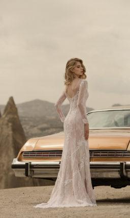 Свадебное богемное платье силуэта русалка