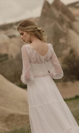 Легкое свадебное платье два-в-одном