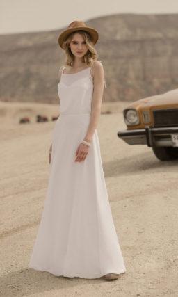Лаконичное летнее свадебное платье