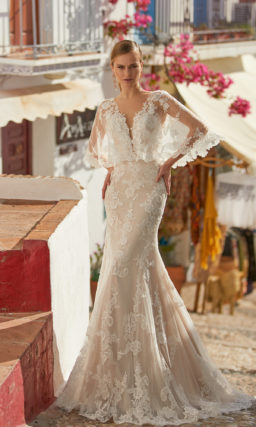 Свадебное платье русалка с накидкой