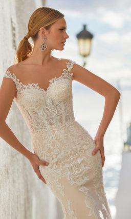 Свадебное платье рыбка с накидкой