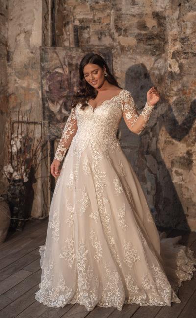 Платье на пышную невесту