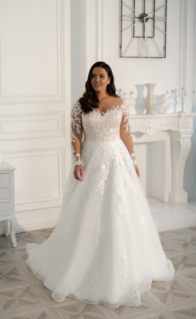 Красивое платье на полную невесту