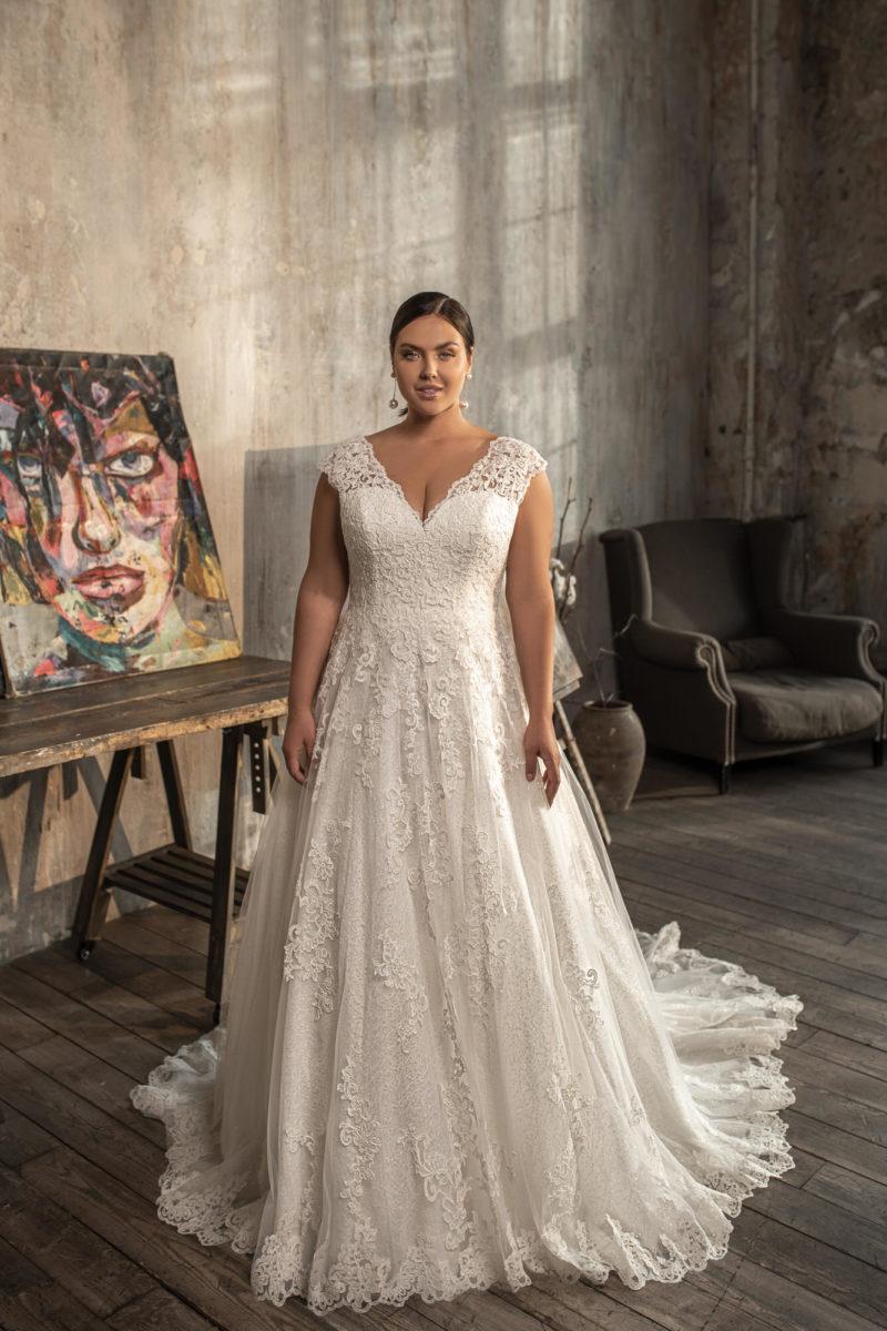 Платье на полную невесту свадебное