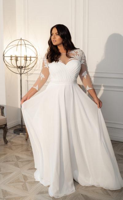 Свадебное платье с минималистичным фасоном