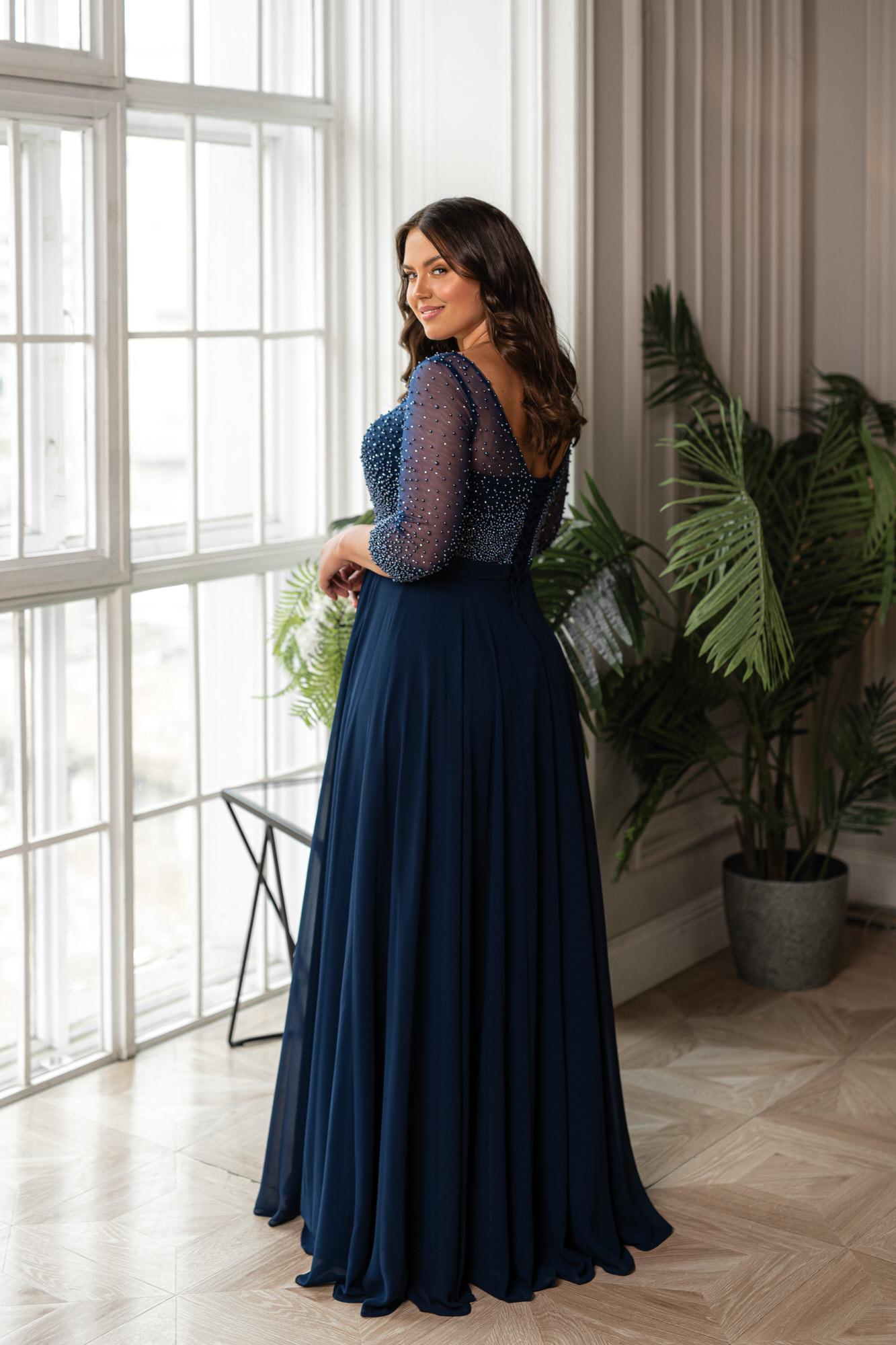 Эффектное свадебное платье Naviblue Bridal 32455C Navy
