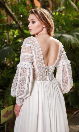 Cвадебное платье plus size с приталенным силуэтом