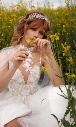 Платье с разрезом свадебное