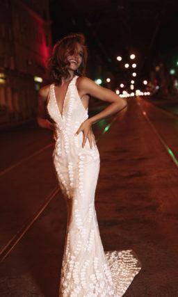 Свадебное платье с ажурным узором в виде ракушек