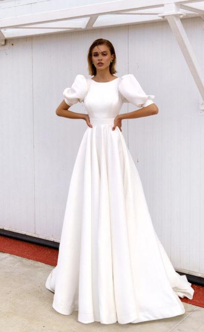 Свадебное платье с рукавами-«фонариками»
