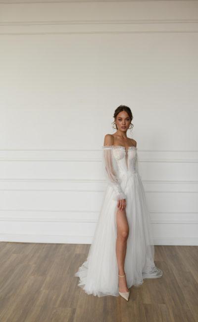 Свадебное платье из фатина