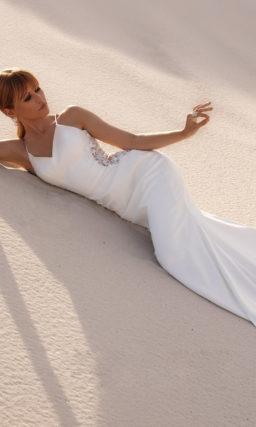 Платье рыбка простое свадебное