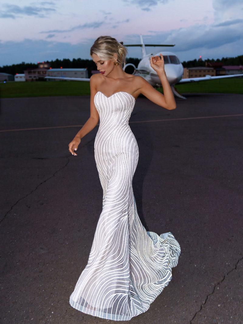 Шикарное платье рыбка свадебное