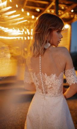 Платье со съемным коротким рукавом