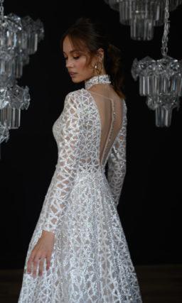 Красивое свадебное платье с текстурой