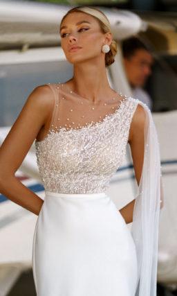 Прямое платье свадебное