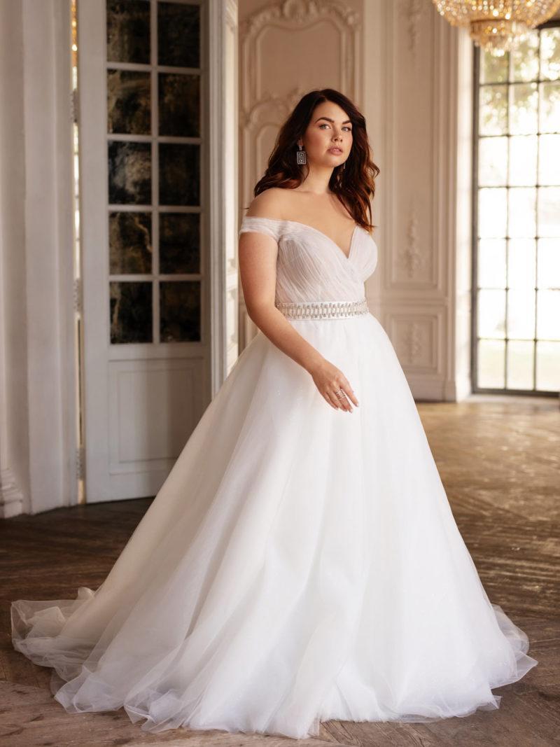 Платье большого размера с поясом