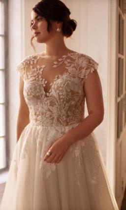 прямое свадебное платье большого размера