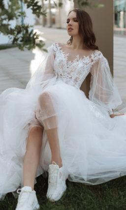 Белоснежное свадебное платье