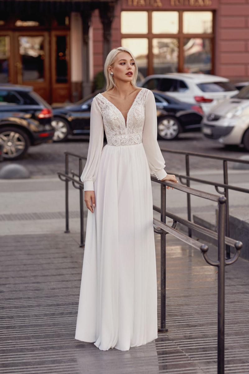 Свадебное платье с цветочным рисунком ажура