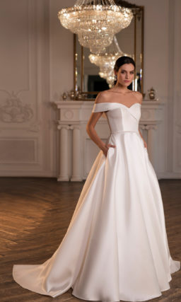 Пышное свадебное платье с карманами