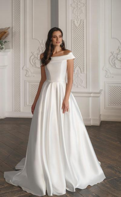 Пышное простое свадебное платье