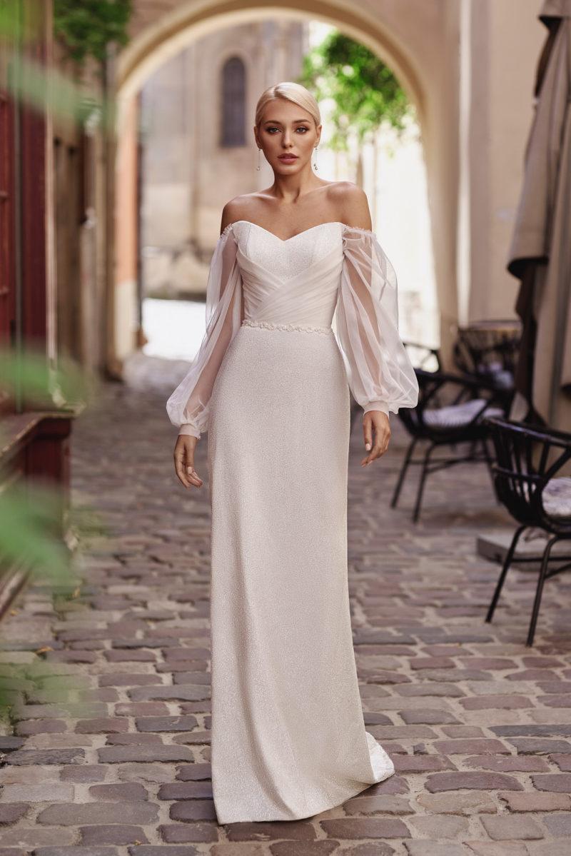 свадебное платье с узкой юбкой