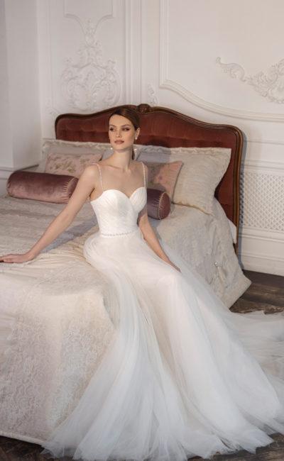 Свадебное платье со съемным ажурным топом