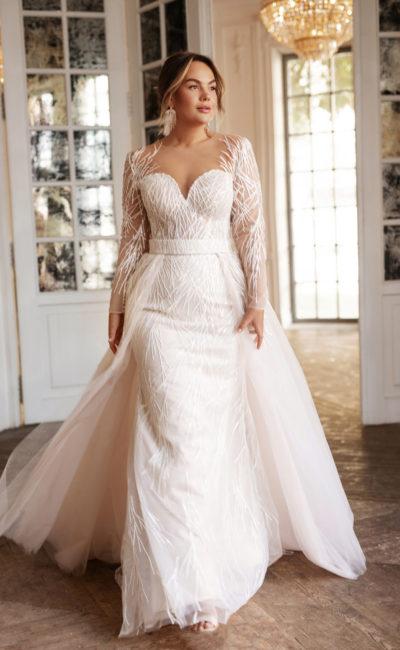 Свадебное платье-трансформере большого размера