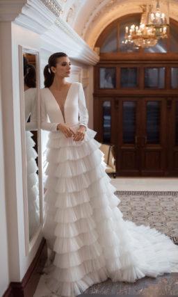 Cвадебное платье с длинными рукавами