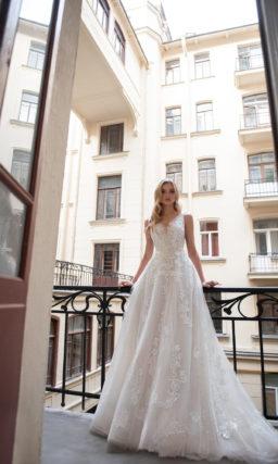 Cвадебное платье в оттенке айвори