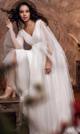 Простое свадебное платье в греческом стиле