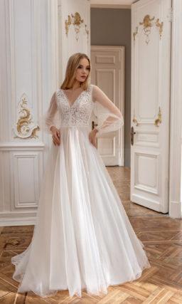 Cвадебное платье с приталенным кроем