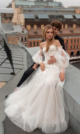 Cвадебное платье открытыми плечами