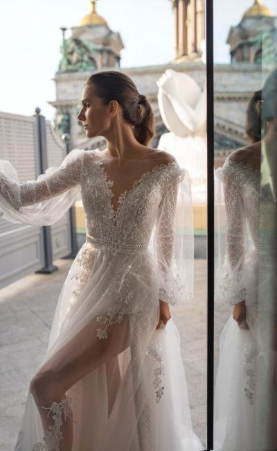 Cвадебное платье с эффектом прозрачности