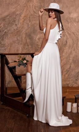 Свадебное платье с американской проймой