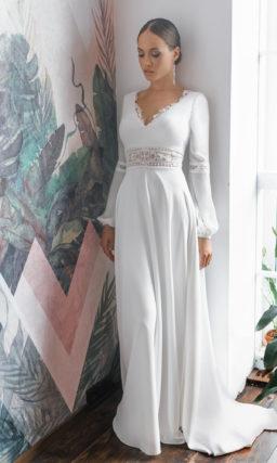Свадебное платье с завышенной линией талии