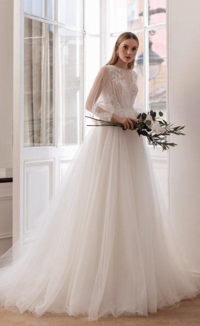 Пышное воздушное венчальное платье