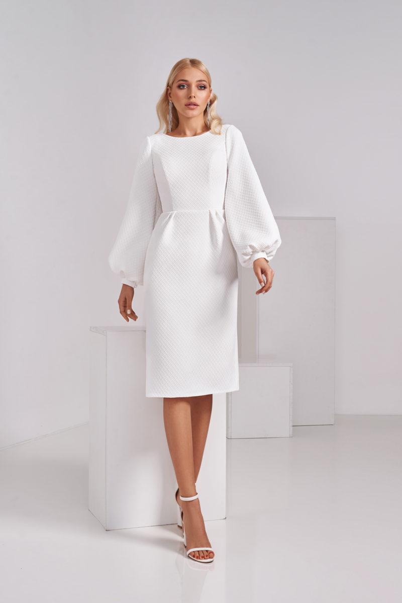 Короткое свадебное платье-футляр