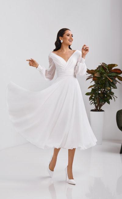 Короткое свадебное платье летнее