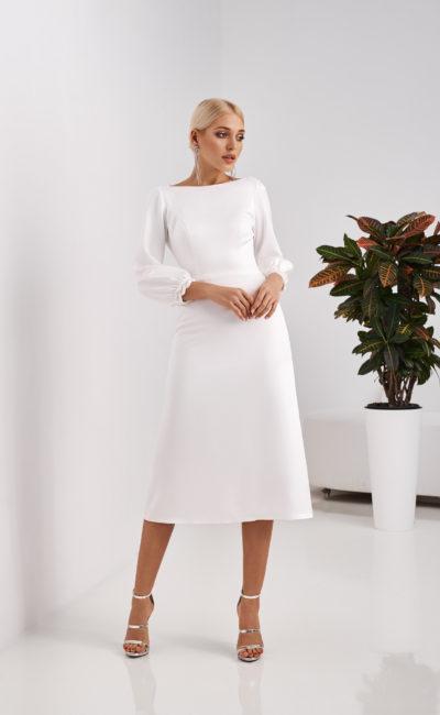 Короткое свадебное платье скромное