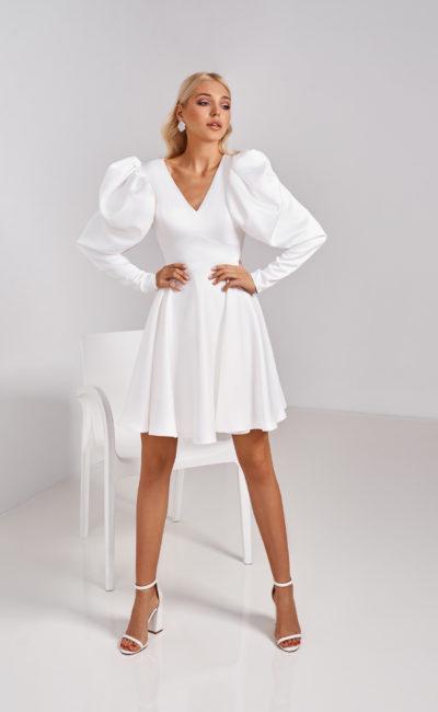 короткое стильное свадебное платье
