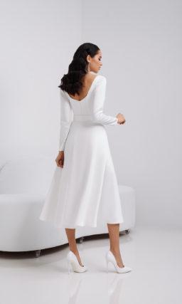 Скромное простое свадебное платье