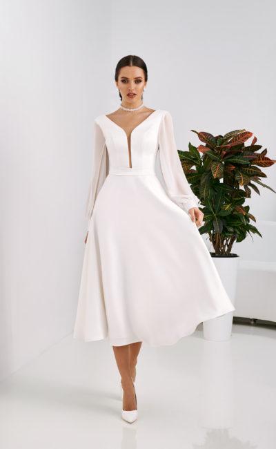 Простое но красивое свадебное платье