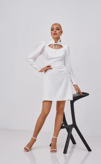 Короткое современное платье свадебное