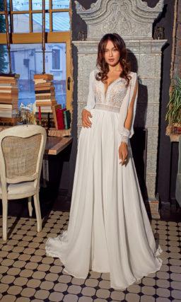 Свадебное платье с интересным рукавом